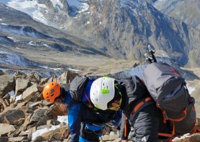 Lagginhorn & Weissmies mit Bergführer