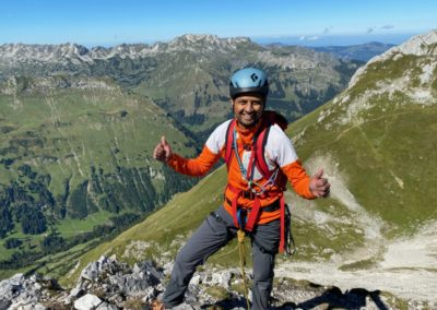Alpinkletterkurs im Allgäu mit Bergführer