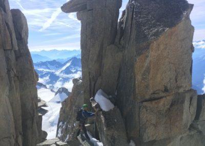 Teufelsgrat / Arete du Diable mit Bergführer