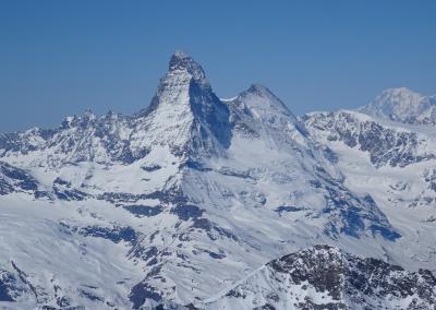 Saas Fee Runde mit Ski - Matterhorn
