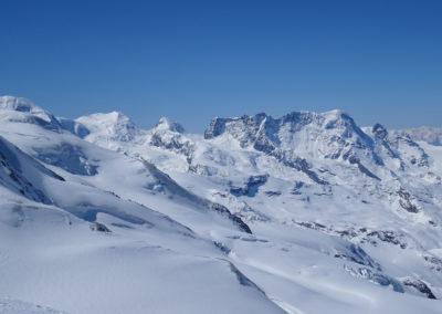 Saas Fee Runde mit Ski - Monte Rosa Gebiet