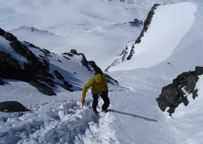 Saas Fee Runde mit Ski - Rimpfischsattel