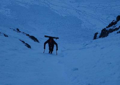 Tourenbericht Droites, Droites bei winterlichen Bedingungen