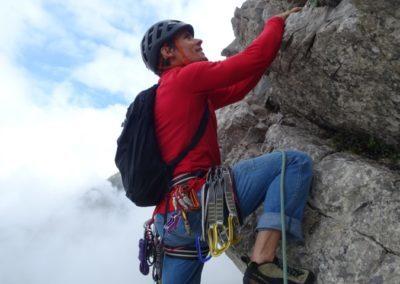Klettertour Bayerländer Weg im Allgäu mit Bergführer