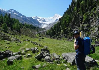 Nadelgrat und Lenzspitze mit Bergführer