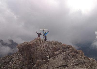 Am Gipfel der Krottenspitze mit Bergführer