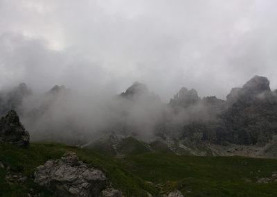 Krottenspitzengrat im Allgäu mit Bergführer