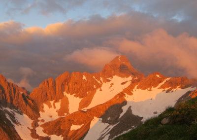 2x Alpinklettertage auf dem Prinz-Luitpold-Haus: Hochvogel im Abendlicht