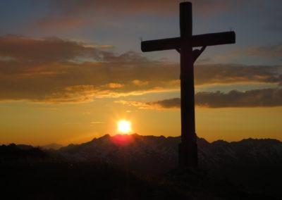 2x Alpinklettertage auf dem Prinz-Luitpold-Haus: Sonnenuntergang Fuchskarspitze