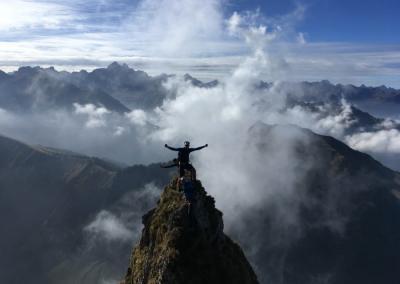 Bergsteigen Höfatsüberschreitung