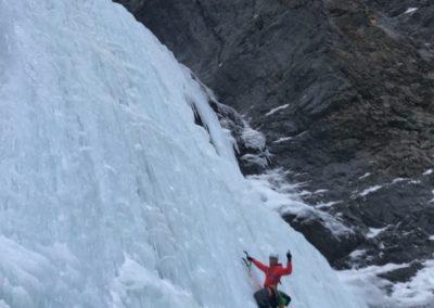 Olli genießt den Sorcerer Eisfall