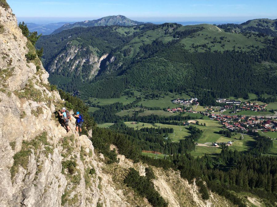 Aussicht am Salewa Klettersteig