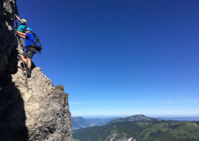 Kletterer am Salewa Klettersteig