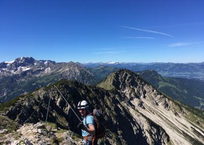 Ausstieg Bergsteiger Salewa Klettersteig