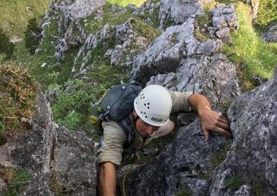Grundkurs Mehrseillängen Klettern im Allgäu mit Bergführer