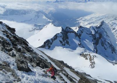 gran combin ski, Gran Combin mit Ski