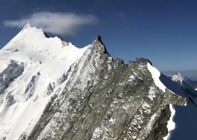 Weisshorn Nordgrat mit Bergführer