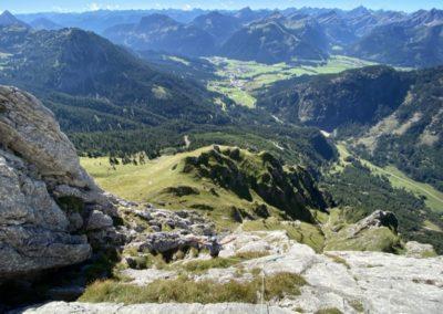 Kletterkurs Mehrseillängen im Allgäu mit Bergführer