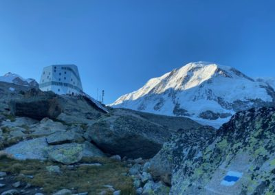 Lyskamm & Dufourspitze mit Bergführer