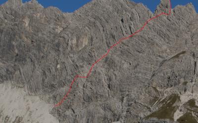 Neue 11SL Klettertour an der Fuchskarspitze