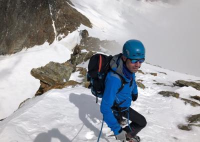 Täschhorn mit Bergführer
