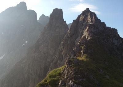 Krottenspitzengrat mit Bergführer