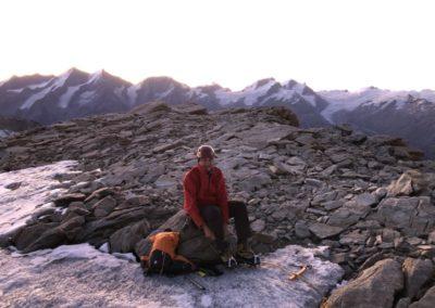 Zinalrothorn und Obergabelhorn mit Bergführer