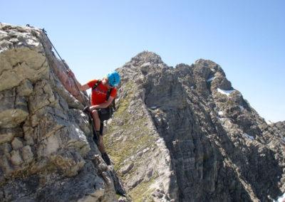 Bergsteiger Hindelanger Klettersteig