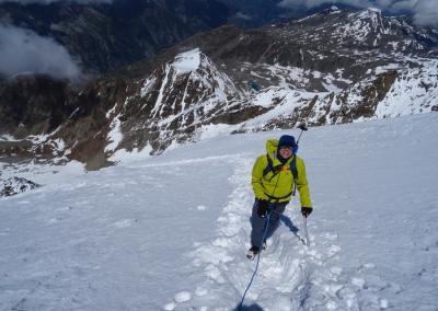 Lagginhorn und Weissmies mit Bergführer