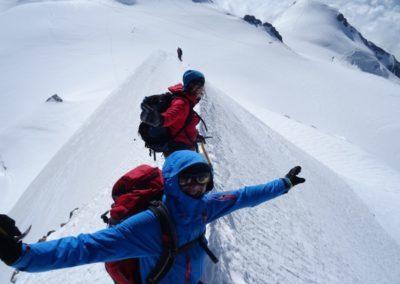 Liskamm & Dufourspitze mit Bergführer