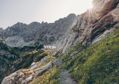 Alpinklettern auf dem Prinz-Luitpold Haus mit Bergführer