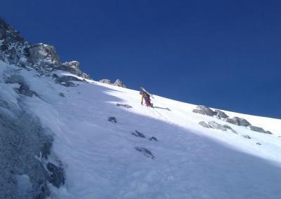 , Kuffner Grat auf den Mont Maudit