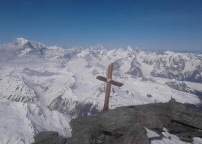 , 3x 4000er mit Ski am Gran Combin