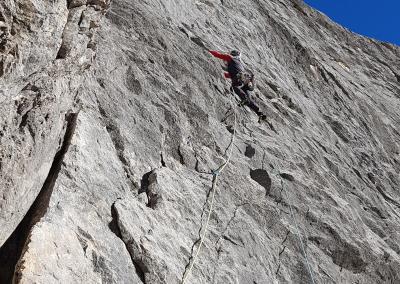 Kletterer Freispitze Kronjuwel