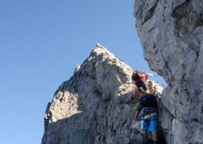 Bergsteiger Mindelheimer Klettersteig