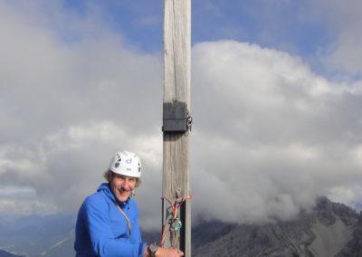 2x Alpinklettertage auf dem Prinz-Luitpold-Haus: Gipfelkreuz der nördl. Fuchskarspitze