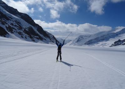 Berner Oberland - Abfahrt Aletschgletscher