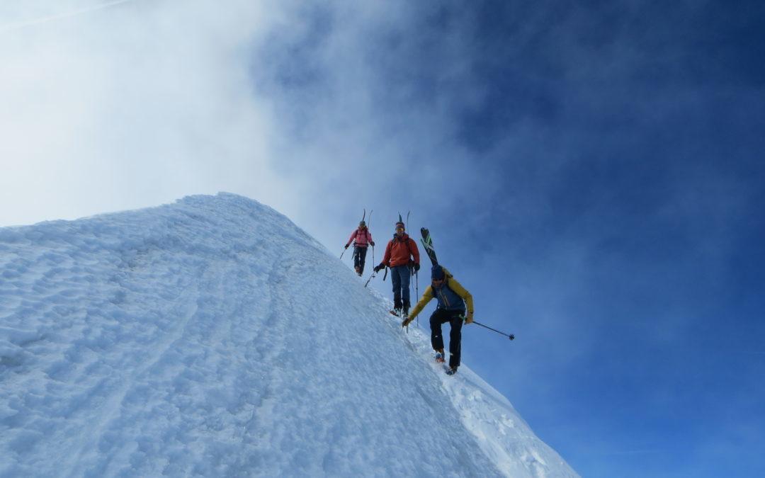 3x 4000er mit Ski am Gran Combin