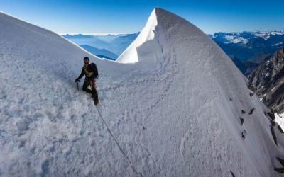 Kuffner Grat auf den Mont Maudit