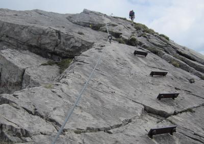 Trittstufen am Hindelanger Klettersteig